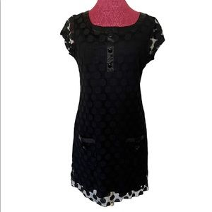 ENFOCUS STUDIO Black Lace Sleeveless DRESS Size 12